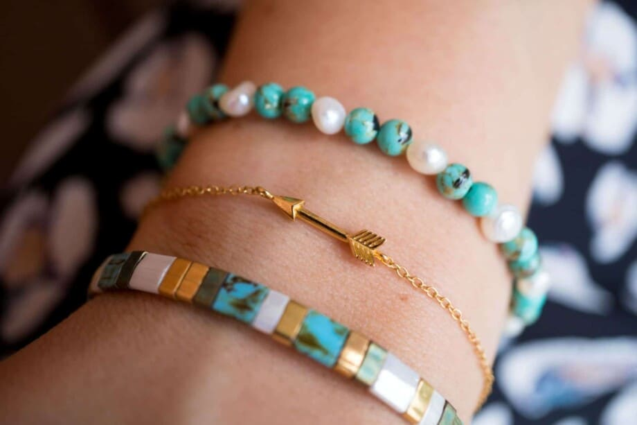 Handgemaakte natuurstenen armband