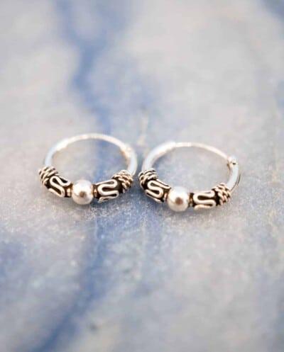 'Bali Hoops' Sterling zilveren oorbellen 12 mm
