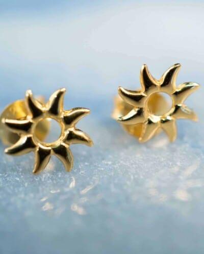 Gouden oorbellen 'Sunny' van Goud Vermeil