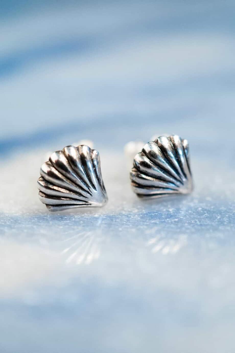 'Seashell' oorbellen Sterling Zilver