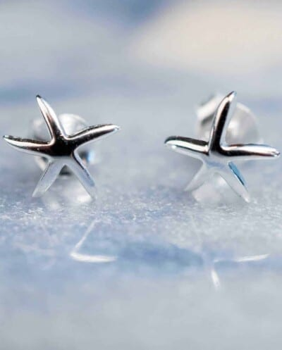 Sterling Zilveren 'Starfish studs' oorbellen