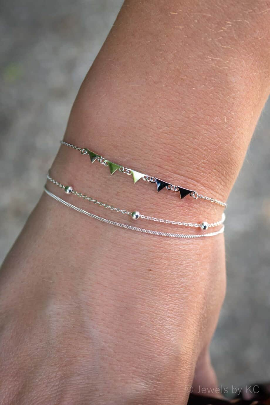 Sterling Zilveren armbanden Double Trouble Pyramid