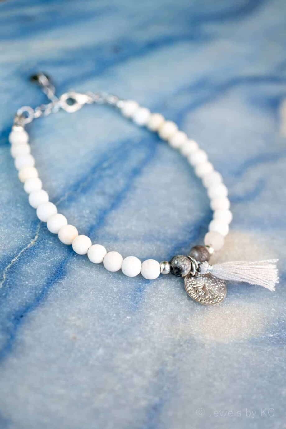 Armband 'A Day at the Beach' Natuursteen