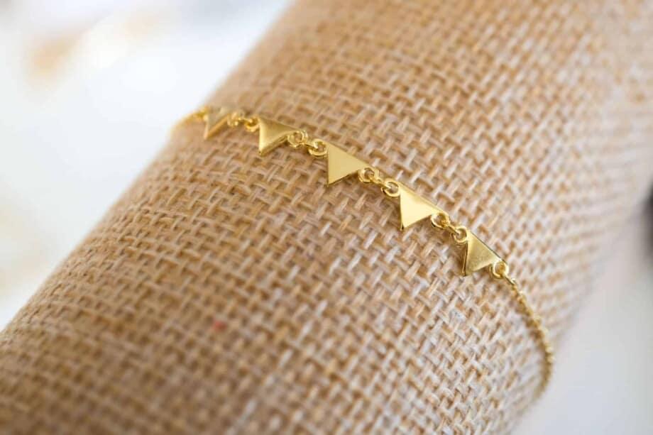 Gouden armband 'Pyramid' van Goud Vermeil