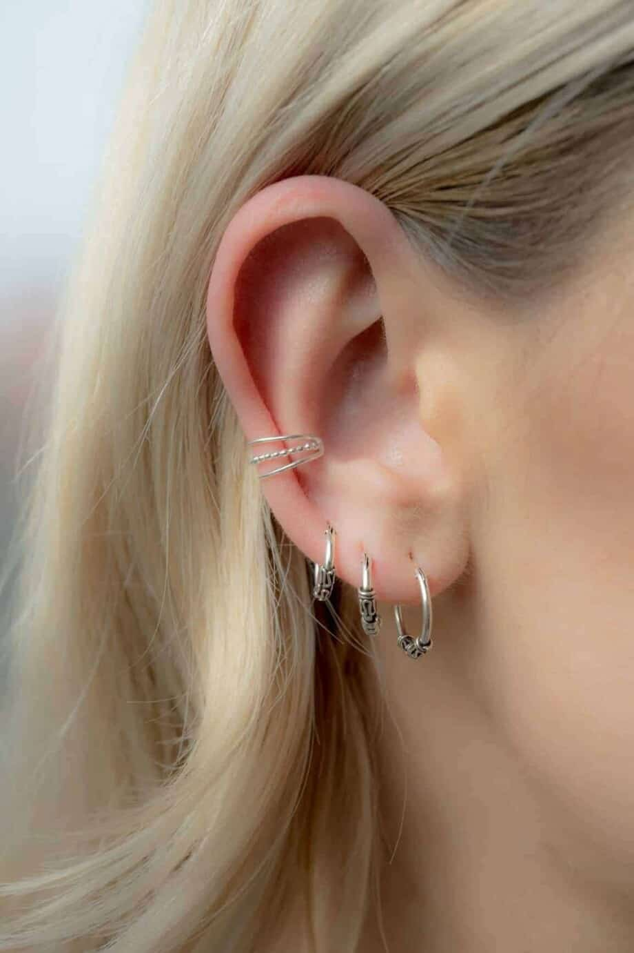 Layered earcuff Sterling zilver