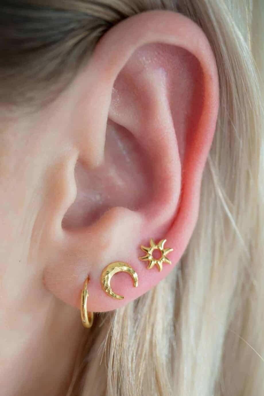 Gouden oorbellen 'Golden Hoops' van Goud Vermeil