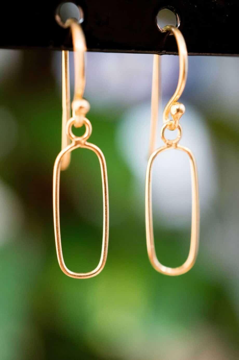 Gouden oorbellen 'Geometry' van Goud Vermeil