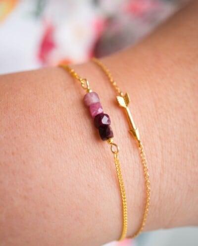 Gouden armband met Arrow van Goud op Zilver