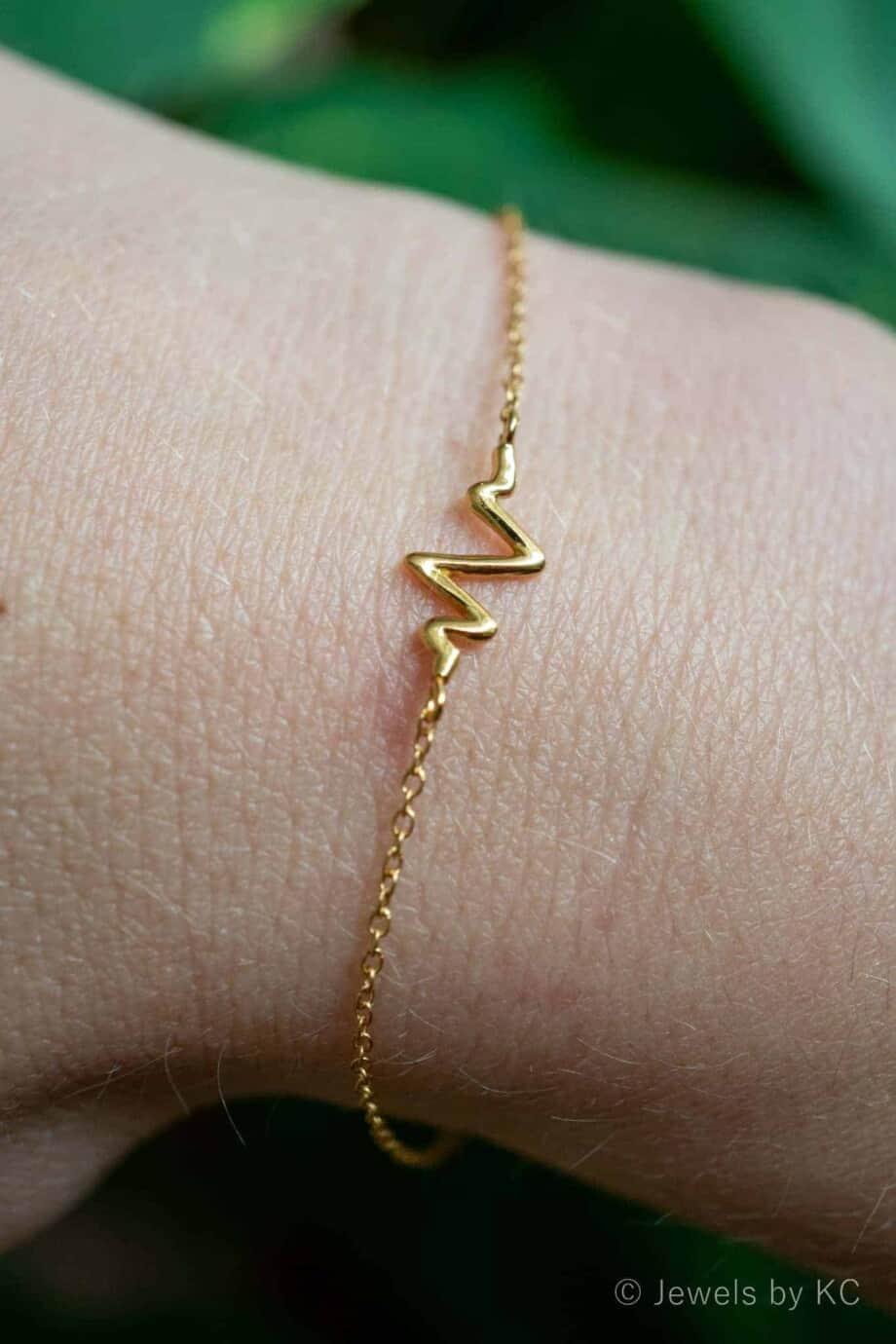 Gouden armband 'Heartbeat'