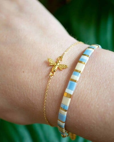 Gouden armband Buzzing Bee