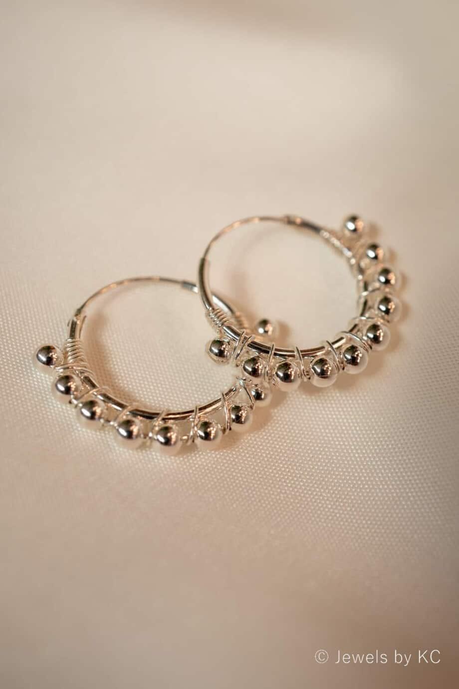 Zilveren oorbellen 'Barcelona Hoops'