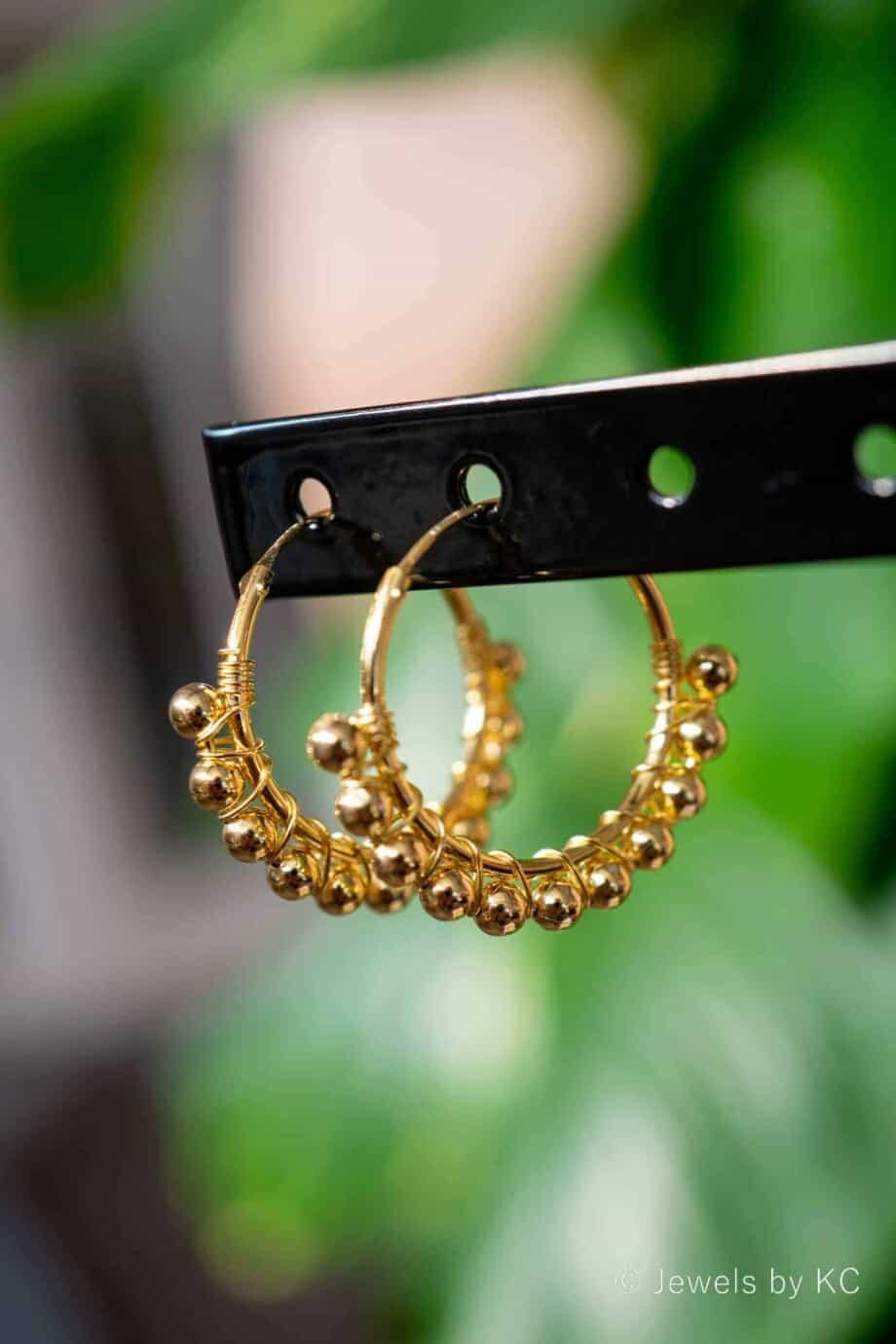 Gouden Oorbellen Barcelona creolen