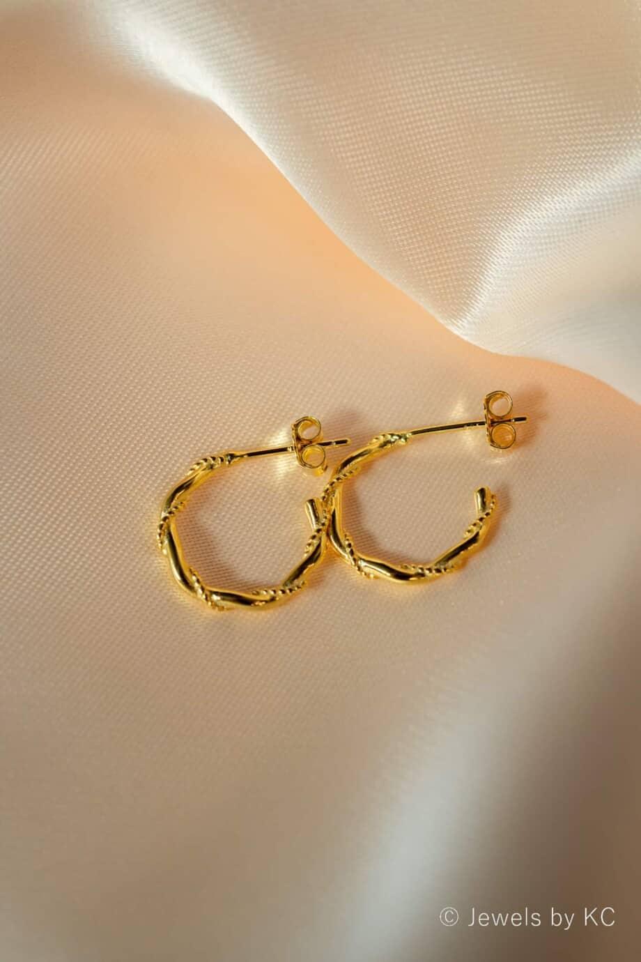 Gouden Oorbellen Snake
