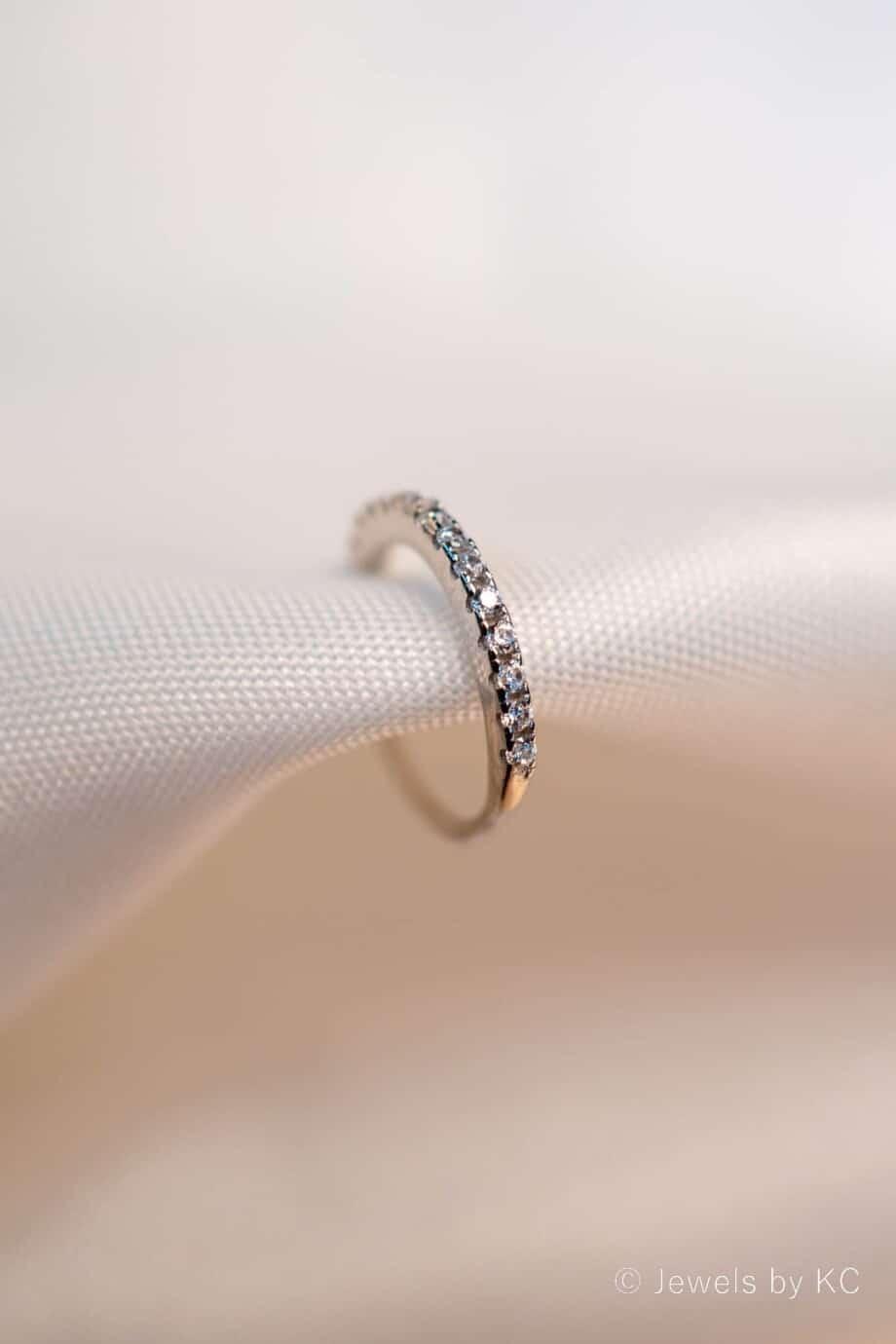 Zilveren ear cuff 'Sparkle' van Sterling Zilver