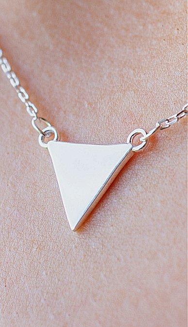 Sterling Zilveren ketting met hanger 'Triangle'