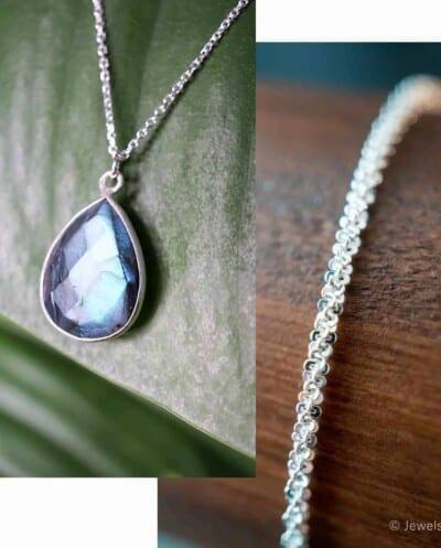 Zilveren edelsteen sieraden setje van Sterling Zilver