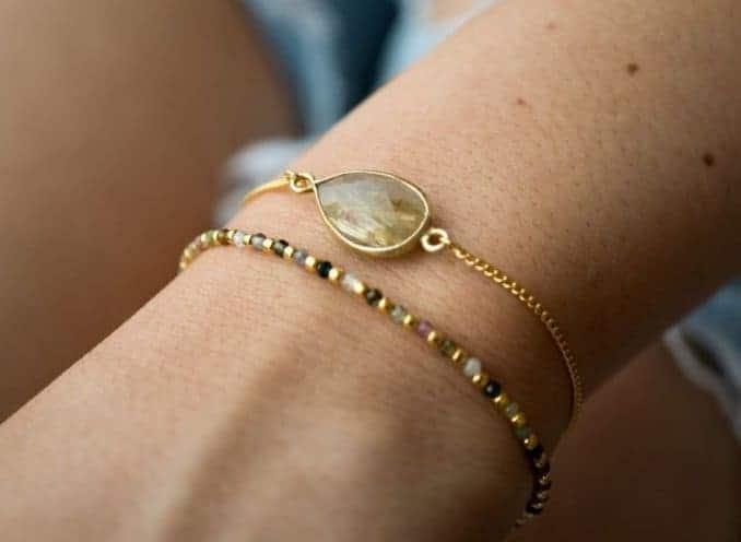 Gouden edelsteen armbanden