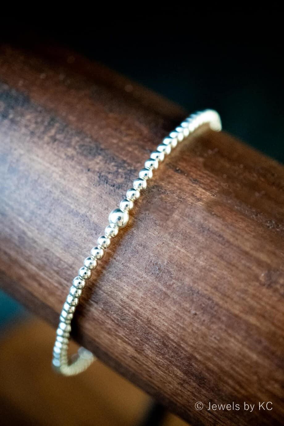 Zilveren armband 'Silver Beads' van Sterling Zilver