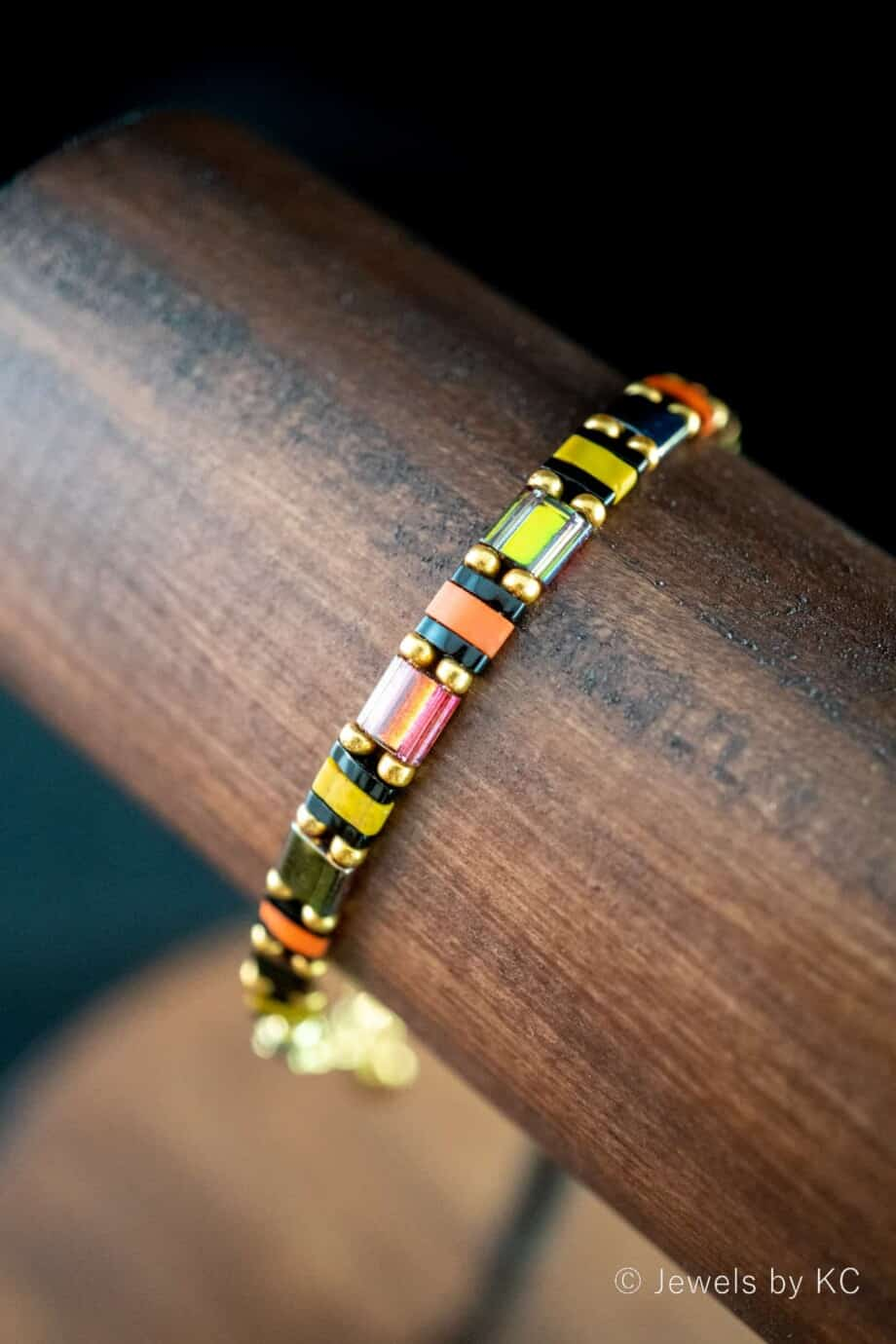 Handgemaakte Miyuki Tila armband 'Potpourri'