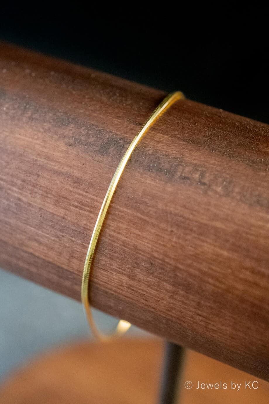 Gouden armband 'Snake Chain' van Goud op Zilver