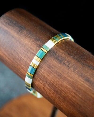 Handgemaakte Miyuki Tila armband 'Valerie'