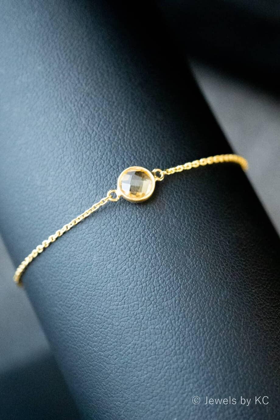 Gouden-edelsteen-armband-oranje-gele-'Citrien-van-Goud-op-Zilver