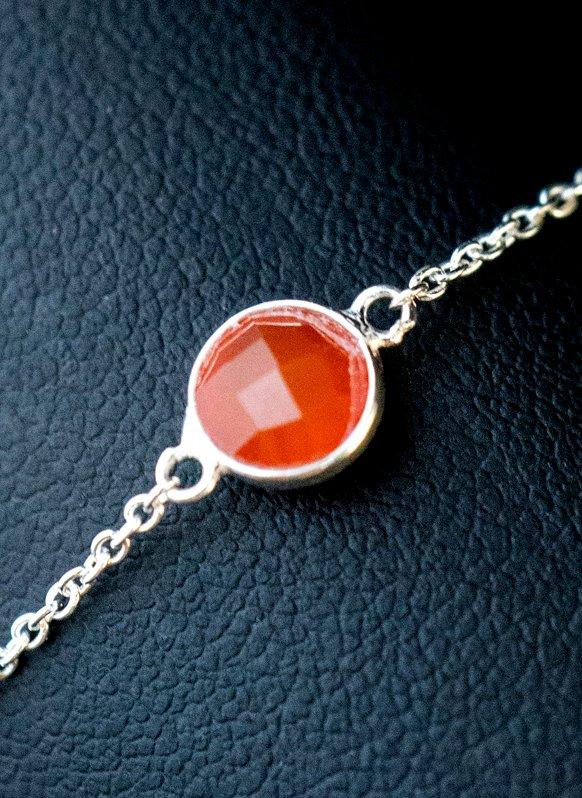 Zilveren-edelsteen-armband-oranje-rode-Onyx-van-Sterling-Zilver