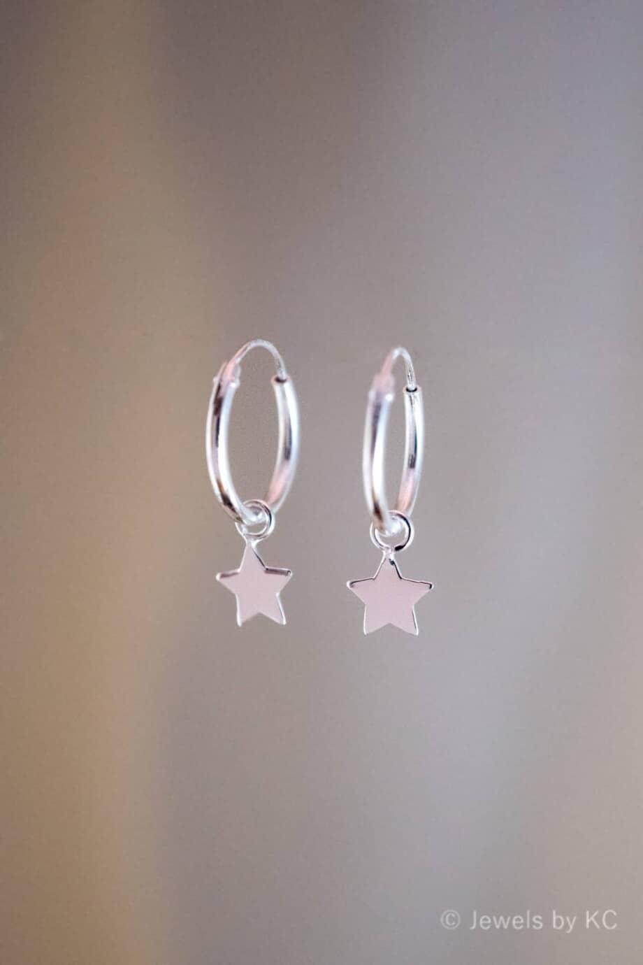 Zilveren-Oorbellen-Sterretjes-van-Sterling-Zilver