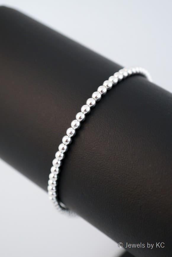 WS-AR-20130 Zilveren kralenarmband van Sterling Zilver 2
