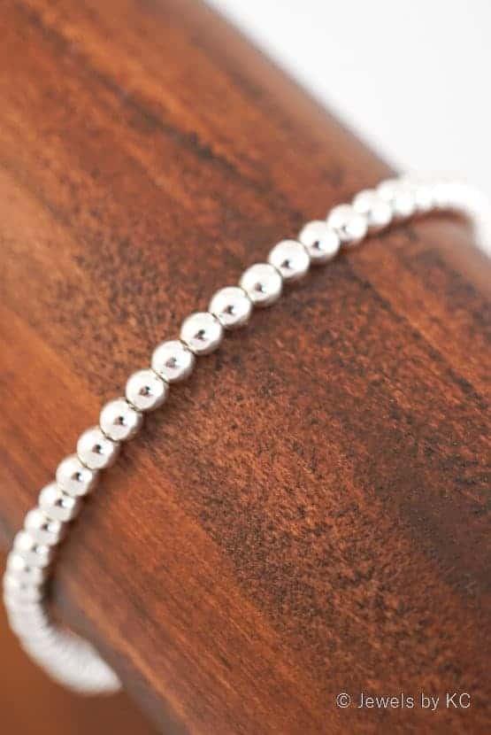 WS-AR-20130 Zilveren kralenarmband van Sterling Zilver