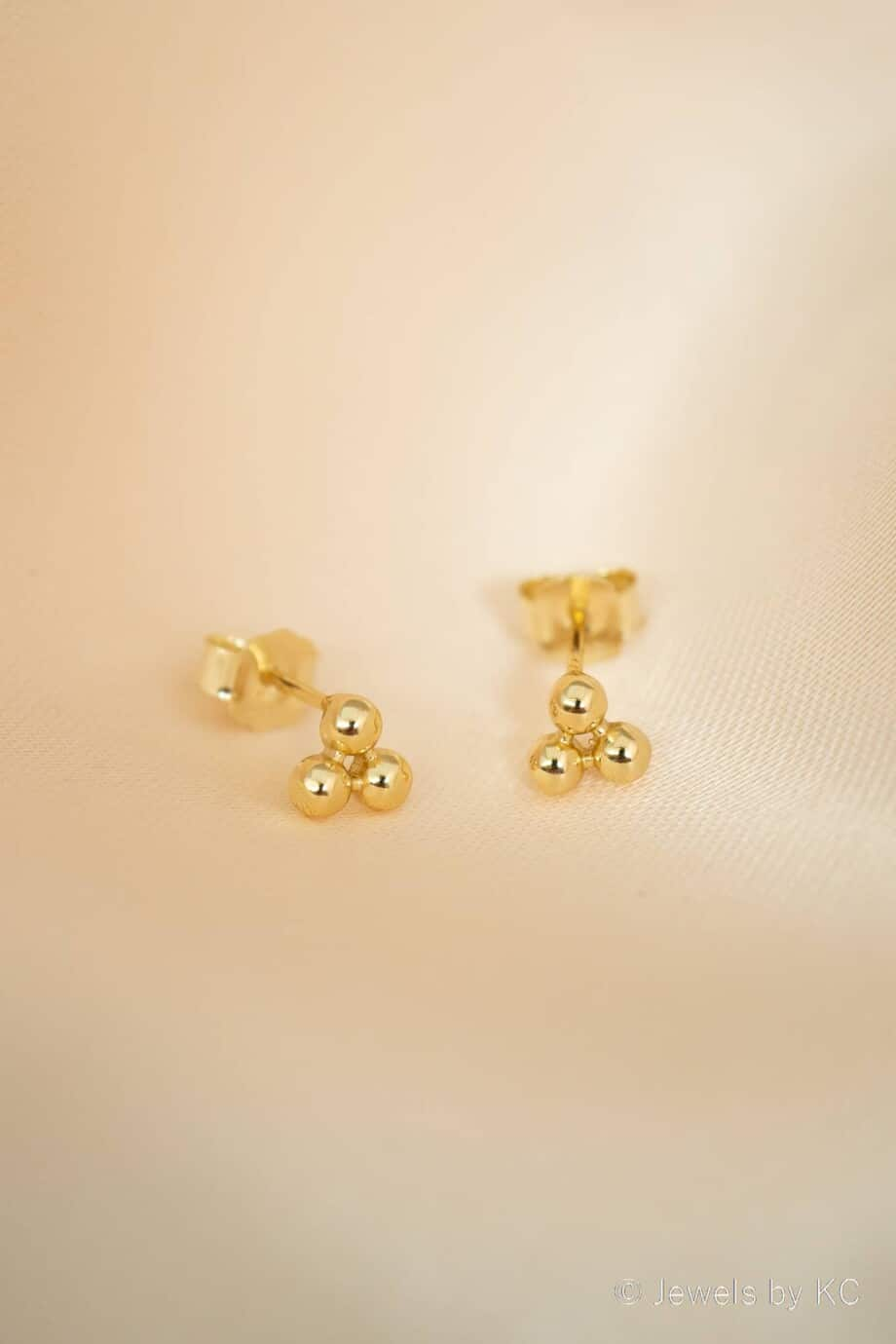 Gouden oorbellen 'Science' van Goud op Zilver