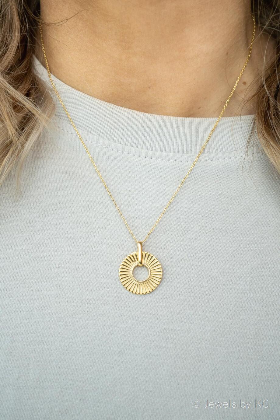 Gouden ketting 'Golden Aura' van Goud op Zilver