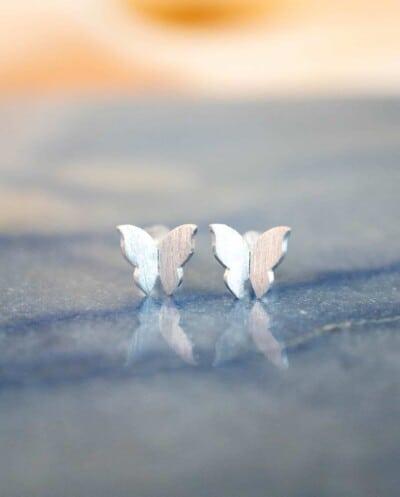 Zilveren Vlinder Oorbellen van Sterling Zilver