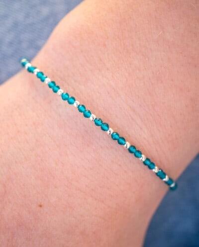 Zilveren edelsteen armband Blauwe Spinel van Sterling Zilver