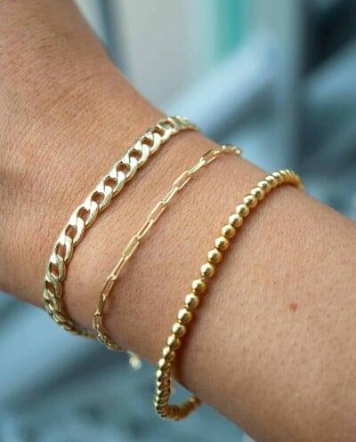Gouden armbanden van Goud op Zilver