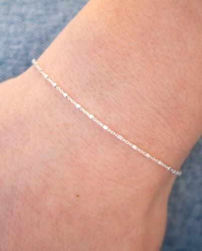 Zilveren armband 'Dots' van Sterling Zilver