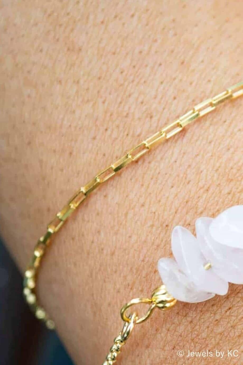 Gouden armband 'Square Box' van Goud op Zilver