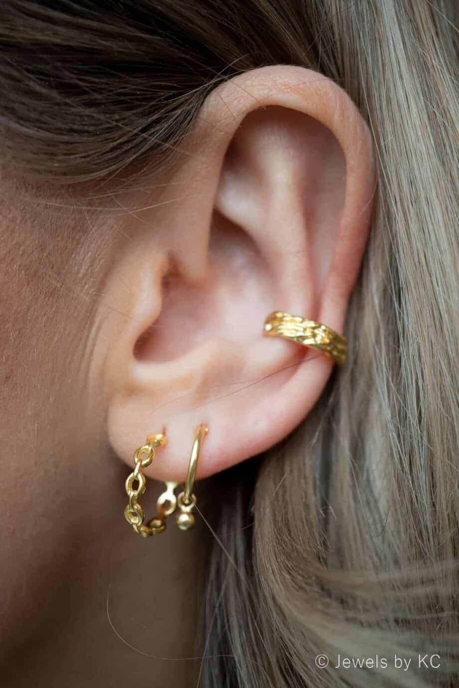 Gouden oorbellen van Goud op Zilver