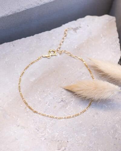 Gouden armband 'Golden Figaro' van Goud op Zilver