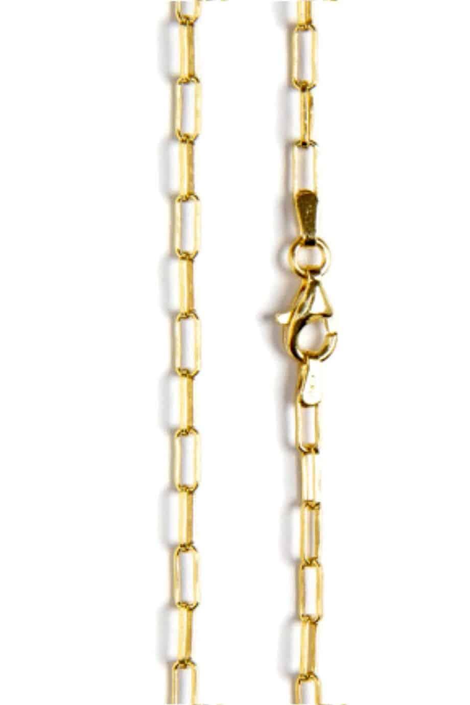 Gouden ketting 'Golden longbox' van Goud op Zilver