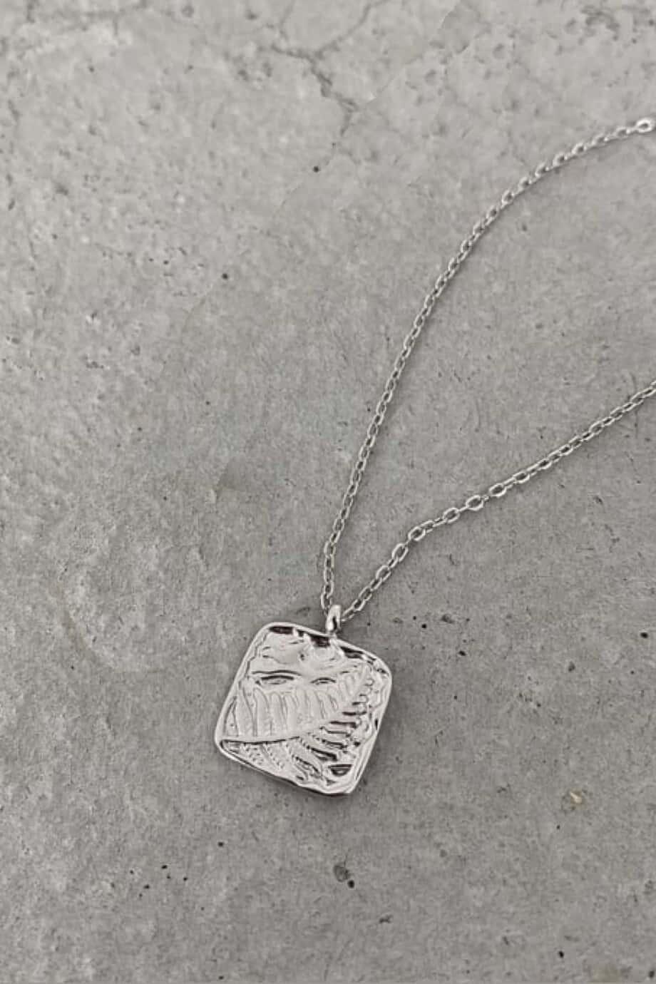 Zilveren ketting 'Vintage leaf' van Sterling Zilver