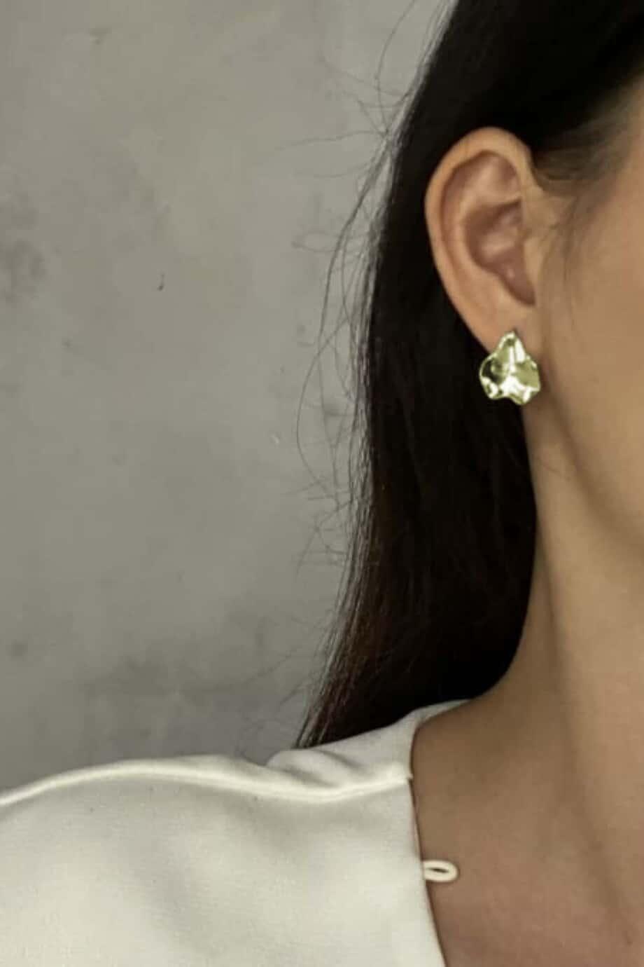 Gouden oorbellen 'Eye catcher' van Goud op Zilver