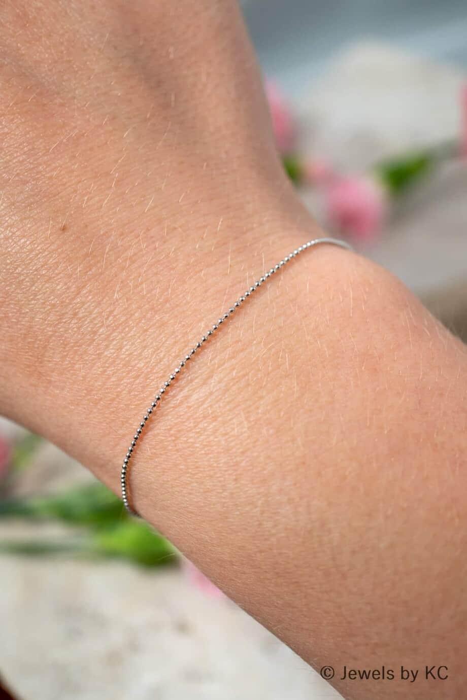 Dun Zilveren armbandje Diamantadas van Sterling Zilver-