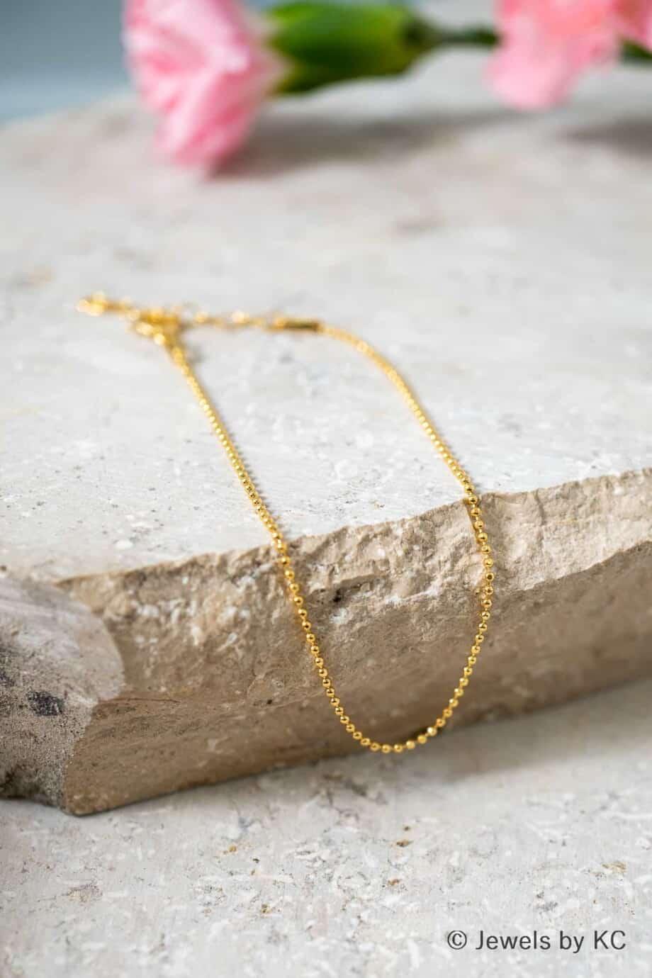 Dun Gouden armbandje Diamantadas van Goud op Zilver