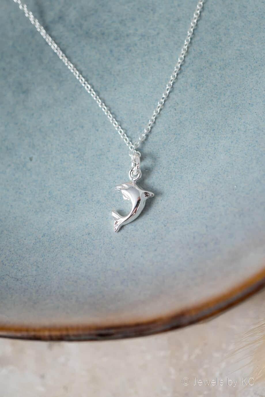 Zilveren Ketting dolfijn hanger van Sterling Zilver