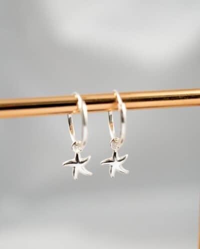 Zilveren 'Zeester' oorbellen van Sterling Zilver